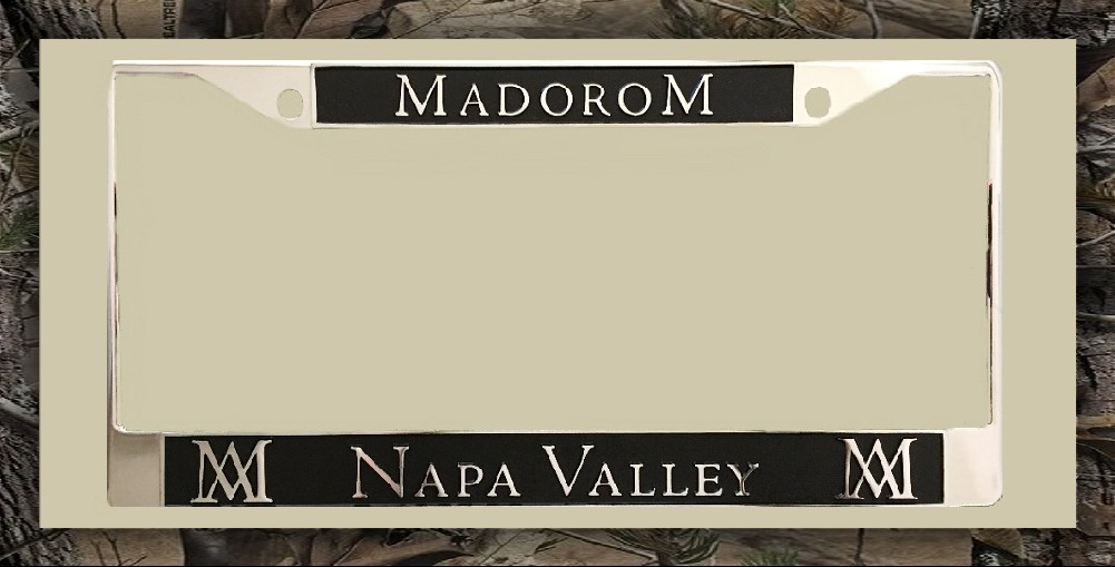 MadoroM Napa Valley License Plate Frame Product Image